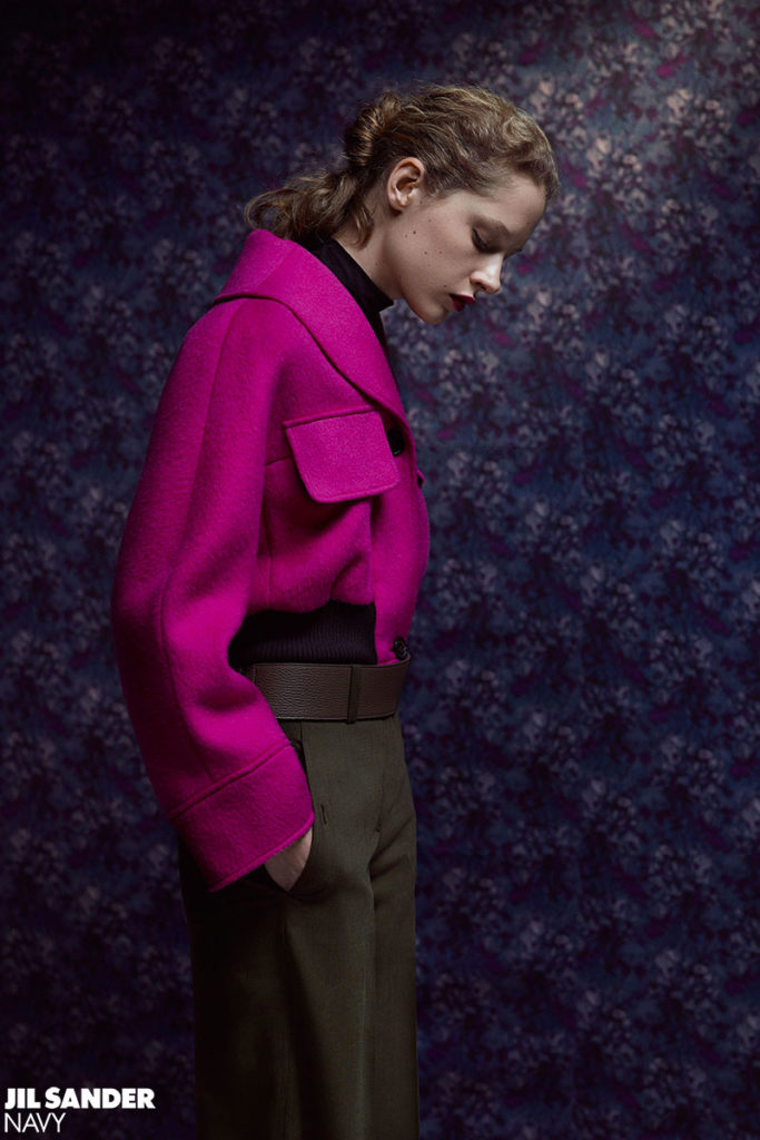 jil sander photo Letizia Ragno hair Marco Minunno Make-up Silvana Belli adv