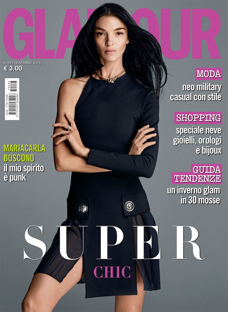 Glamour hair Davide Diodovich make-up Silvana Belli cover