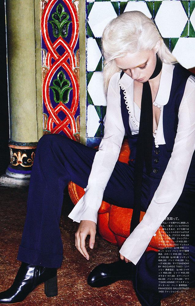Vogue Japan make-up Arainna Cattarin hair Davide Diodovich Lucky blue smith