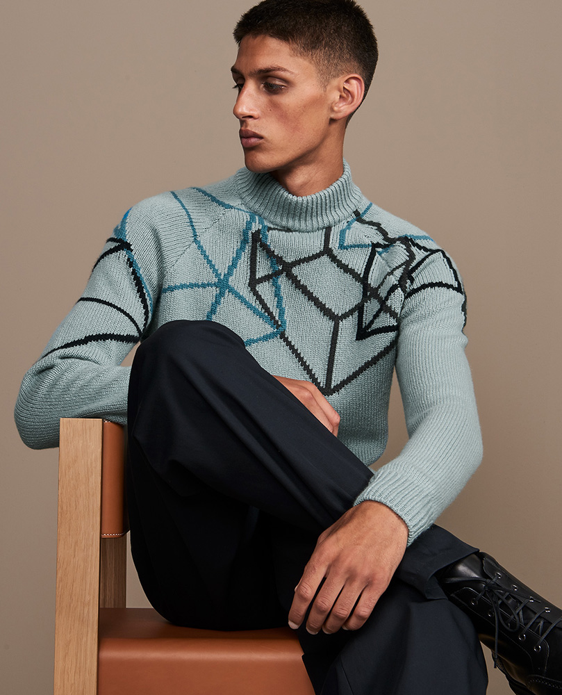 Hermes hair Liv Holst editorial man adv