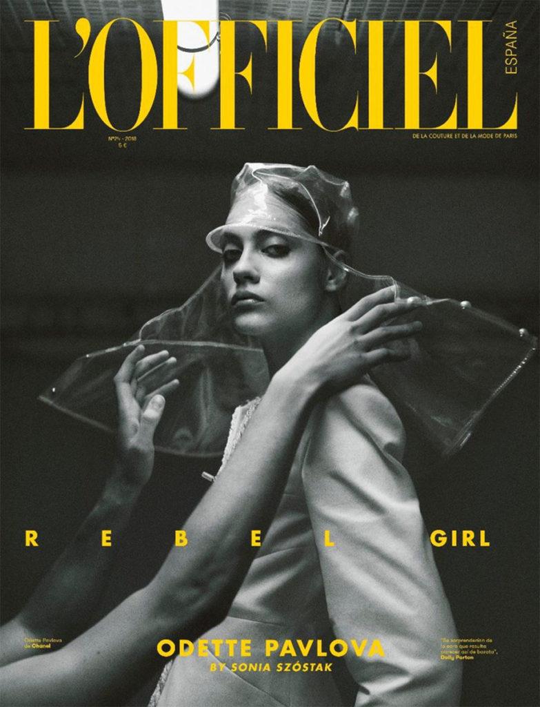 l'officiel spain Photographer Sonia Szostak styling Alba Melendo cover editorial