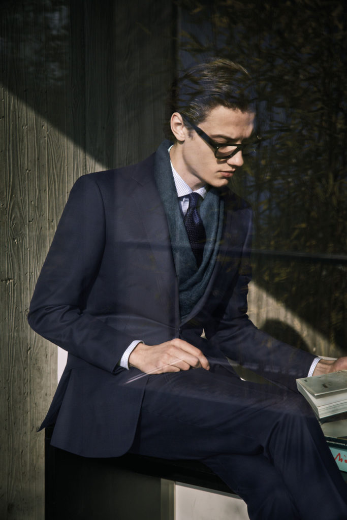 Zegna magazine hair Marco Minunno men editorial