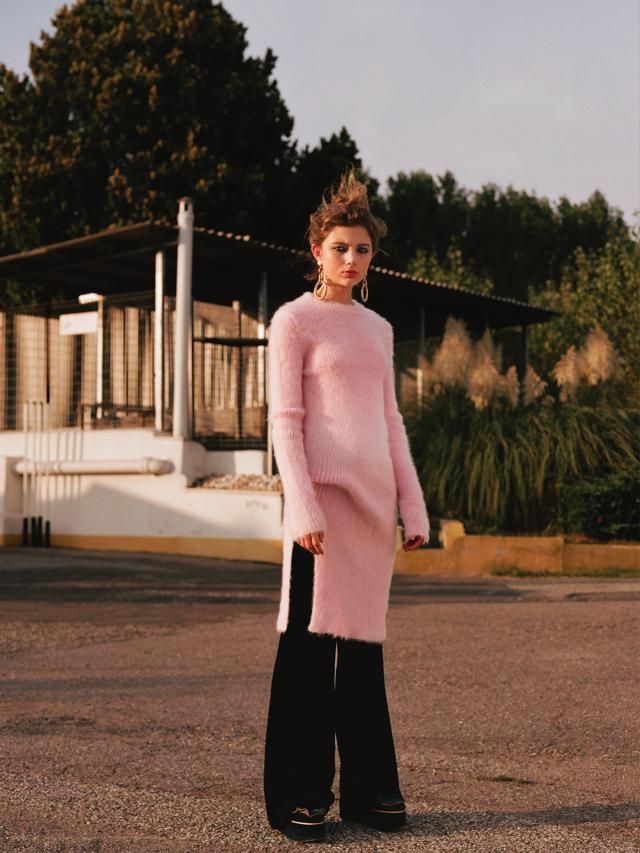 fashion illustrated hair Chiara Bussei editorial woman