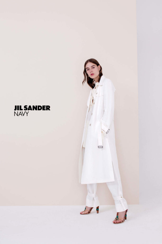 jil sander navy hair Marco Minunno make-up Silvana Belli adv