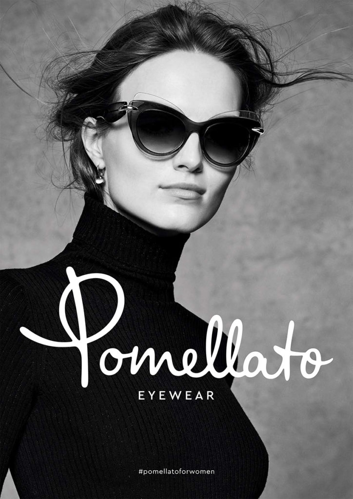 Pomellato eyewear hair Davide Ddiodovich adv
