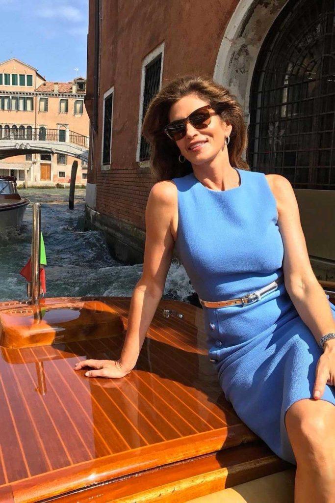 Cindy Crawford hair Davide Diodovich make-up Silvana Belli