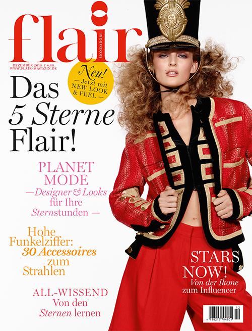 Flair Germany hair Davide Diodovich make-up Arianna Cattarin manicure Carlotta Saettone cover