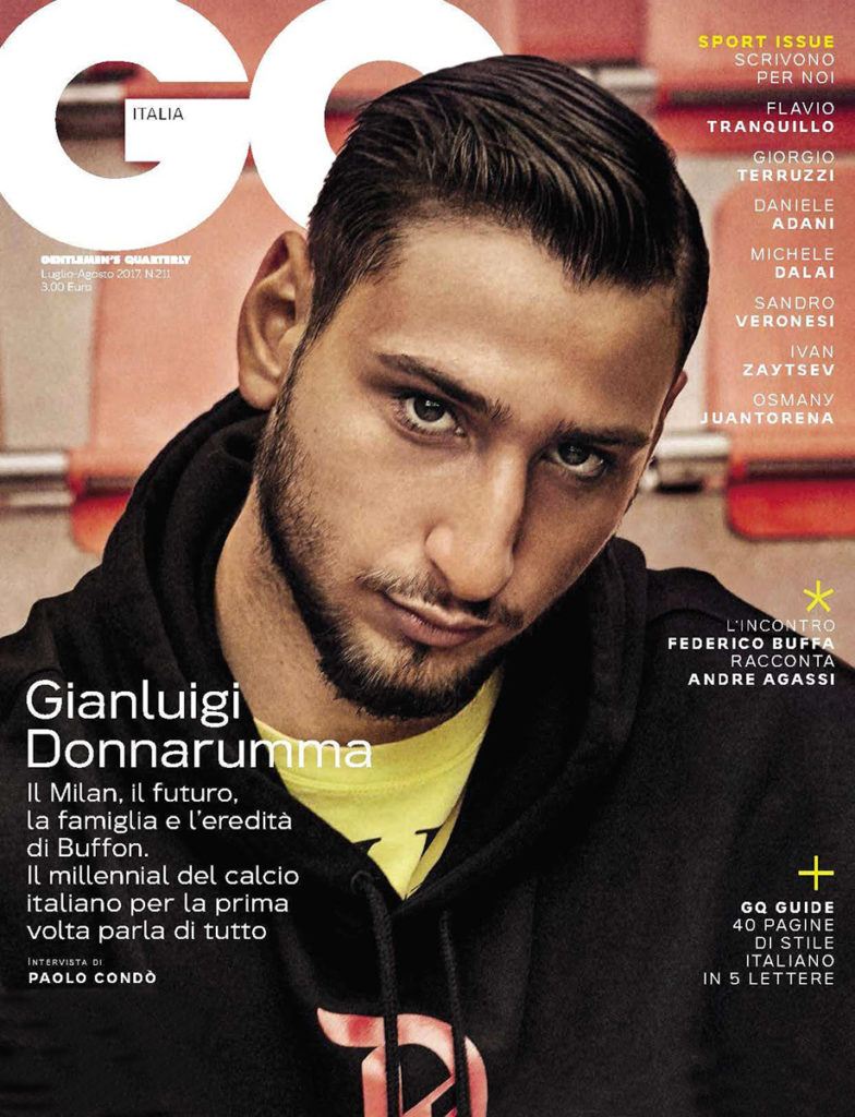 gq italia Gianluigi Donnarumma hair Franco Chessa celebrities man