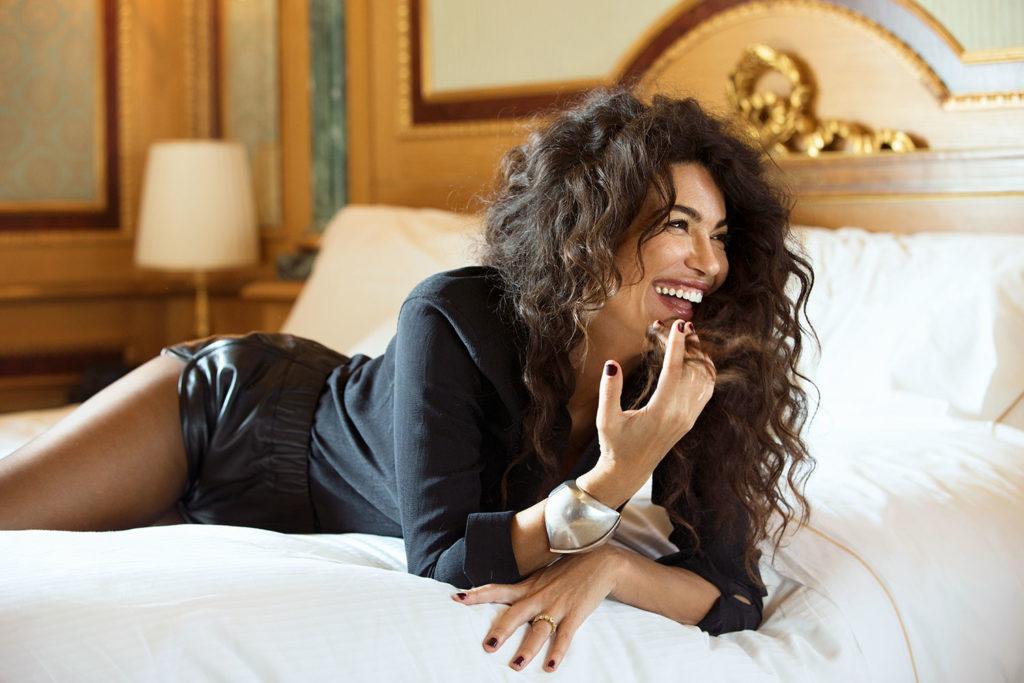 Marie claire Arabia Afef Jnifen hair Stefano Gatti woman celebrities