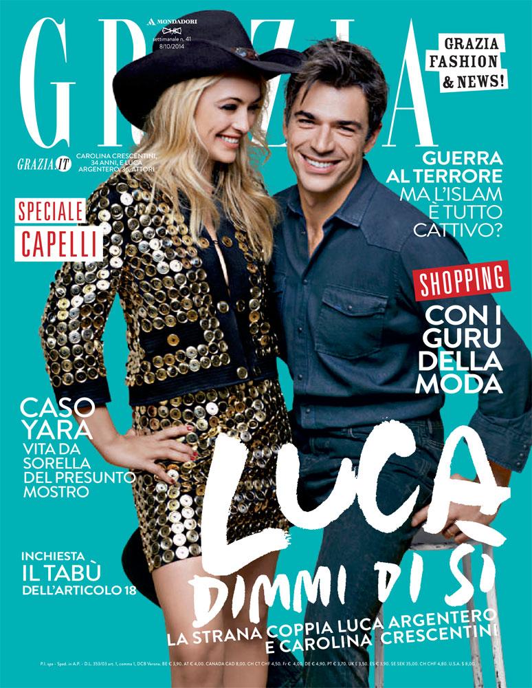 Grazia Italia stylist Ildo Damiano Luca Argentero
