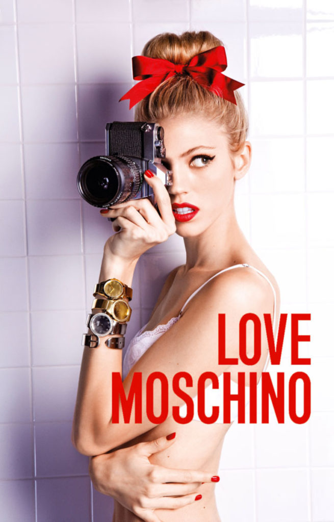 Love Moschino hair Luca Lazzaro make-up Giovanni Iovine manicure Carlotta Saettone video adv