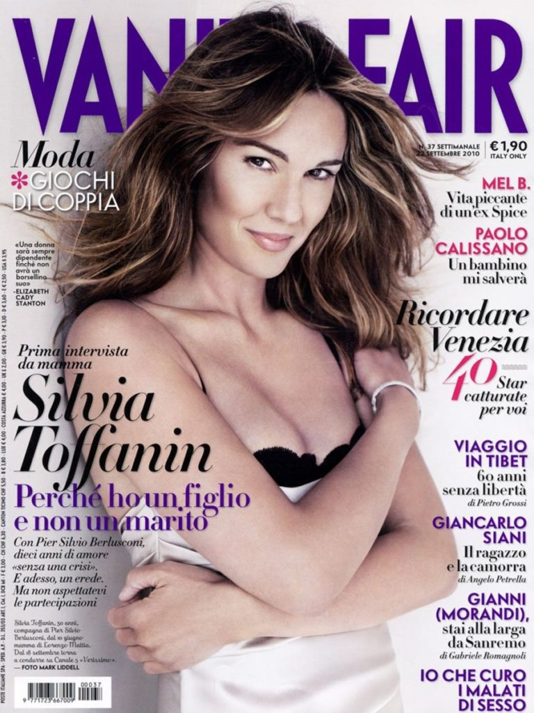 Vanity Fair hair Luca Lazzaro make-up Silvana Belli cover celebrities woman
