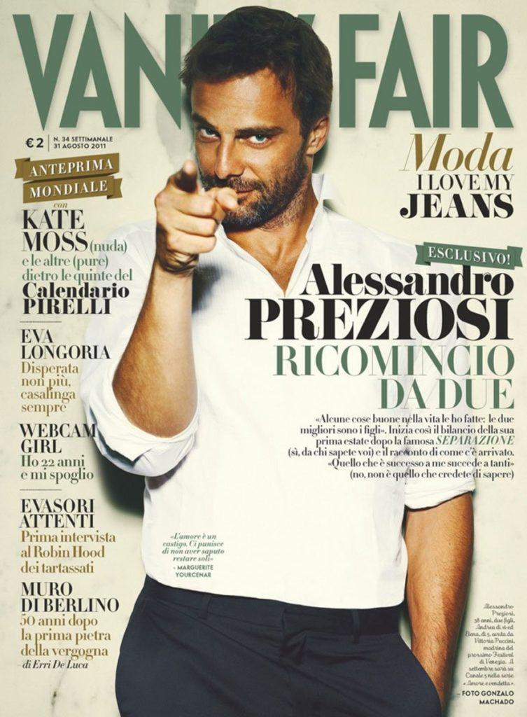 Vanity Fair Alessandro Preziosi hair Luca Lazzaro cover celebrities man