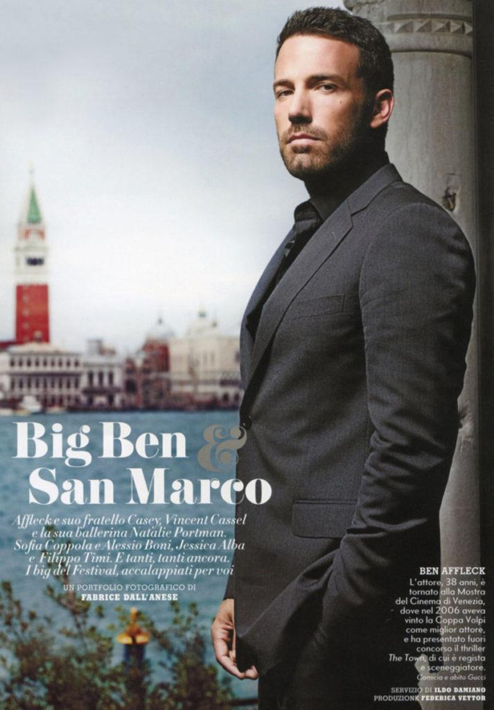 Ben Affleck stylist Ildo Damiano grazia italia