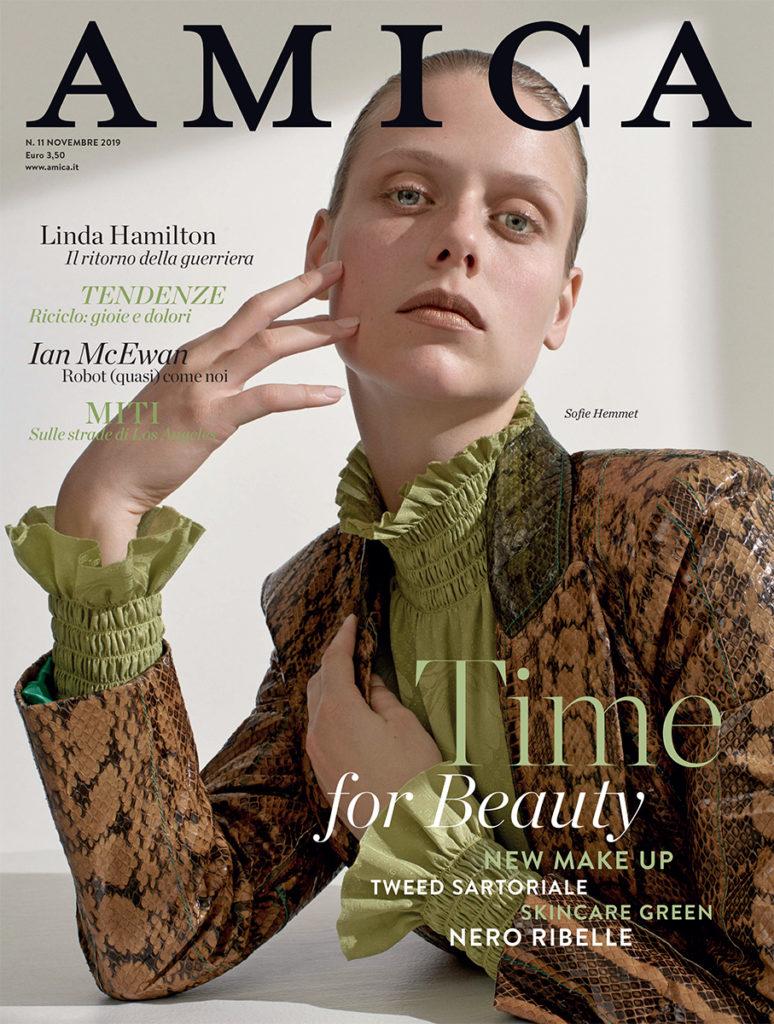 Amica magazine make-up Hugo Villard