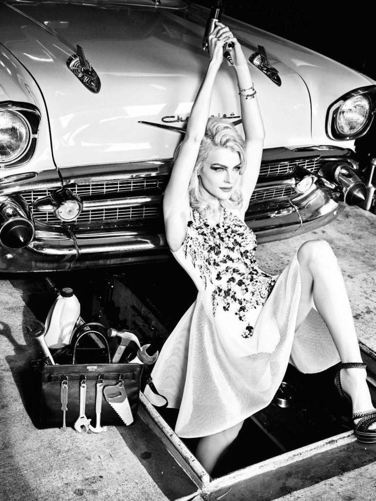 Vogue Italia Photo by Ellen Von Unwerth stylist Giulio Martinelli Jessica Stam