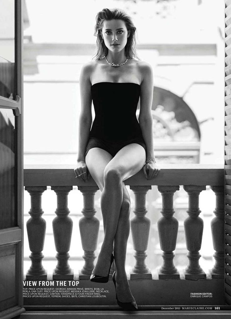 Marie Claire US Amber Heard Photographer boe marion Styling enrique campos