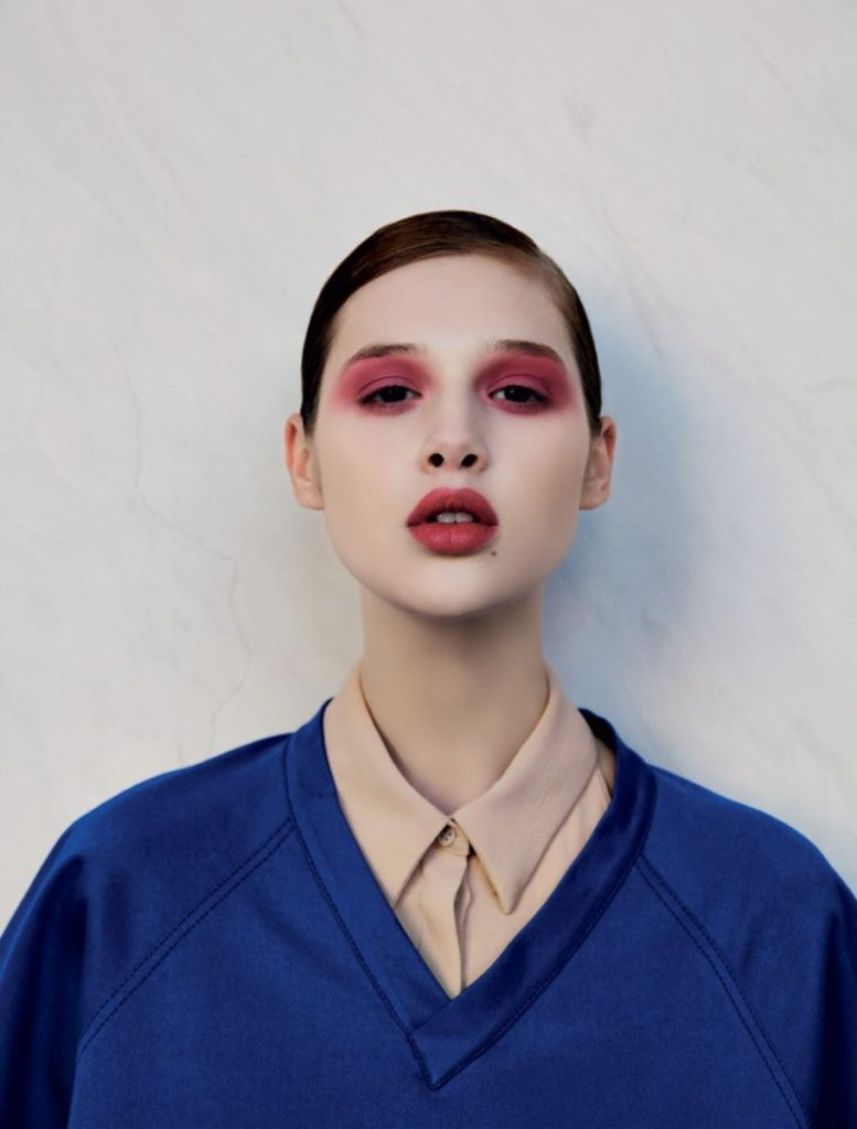 grey magazine hair Stefano Gatti make-up Augusto Picerni woman editorial