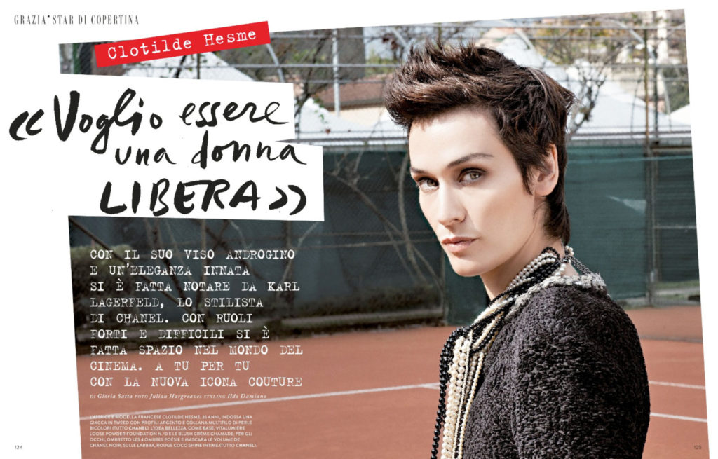Clotilde Hesme stylist Ildo Damiano