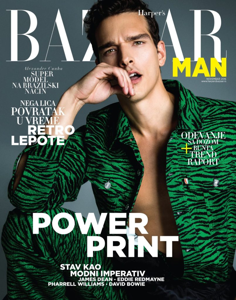 Harper's Bazaar man hair Rory Rice cover man editorial