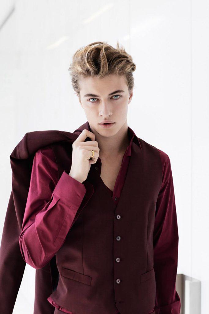 Grazia photographer Julian Hargreaves make-up Augusto Picerni styling Ildo Damiano Lucky Blue Smith