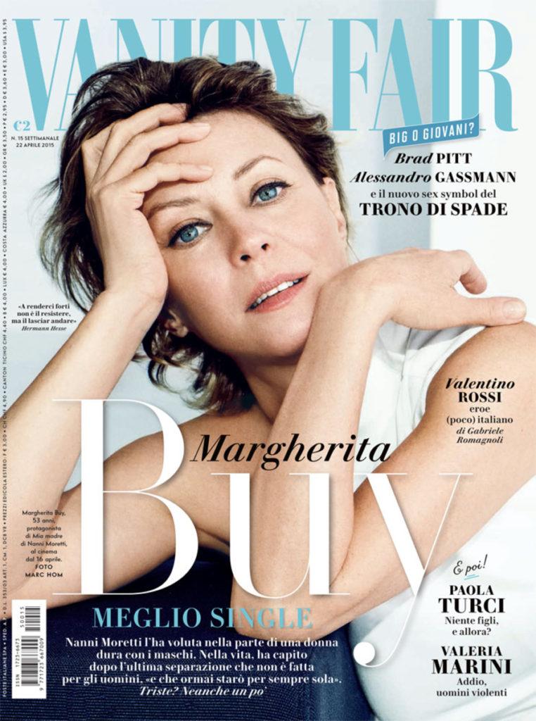 Vanity fair Margherita Buy hair Luca Lazzaro celebrities cover woman