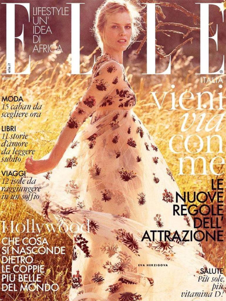 elle italia hair Luca Lazzaro woman cover