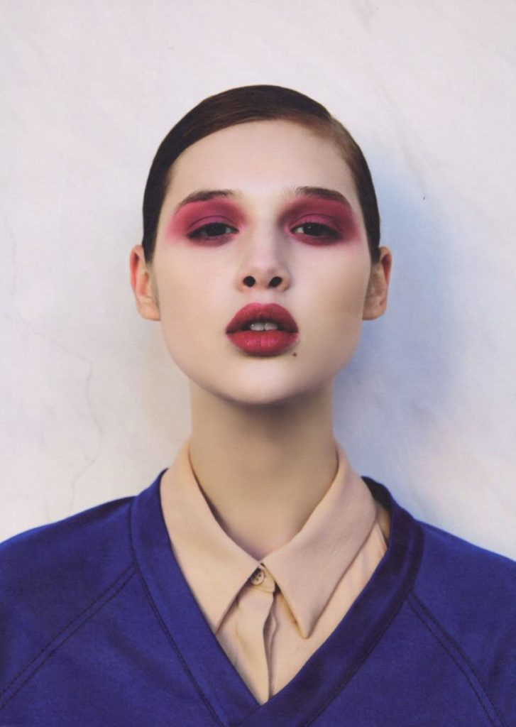 Grey magazine photographer Peppe Tortora make-up Augusto Picerni hair Stefano Gatti