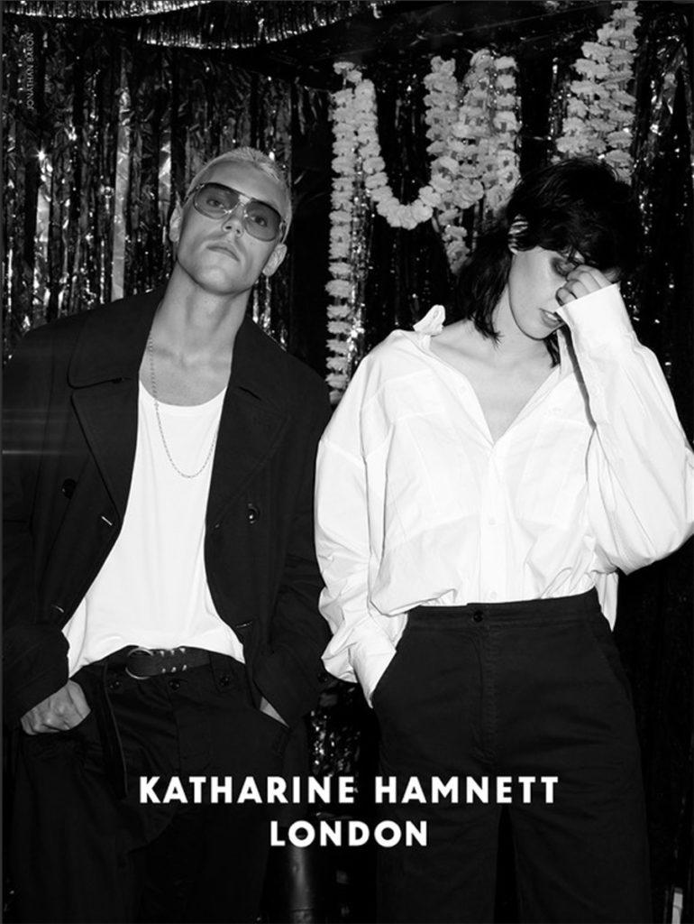 Katharine Hamnett hair Rory Rice adv man woman