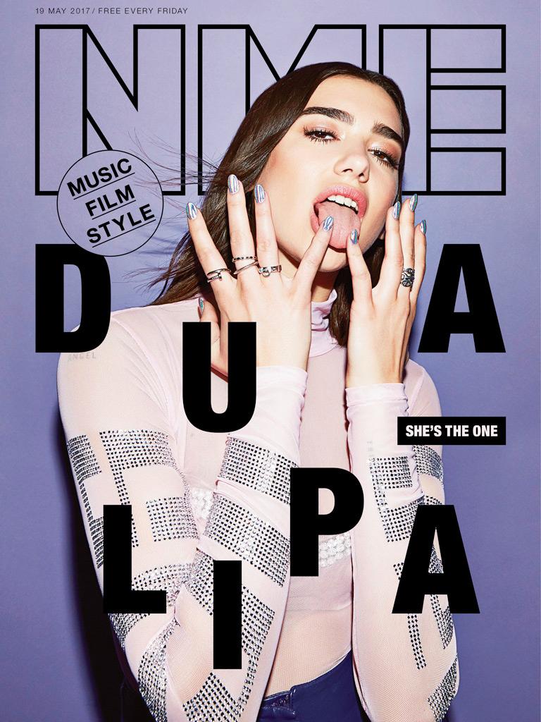 Nme Magazine Dua Lipa hair Rory Rice cover editorial celebrities