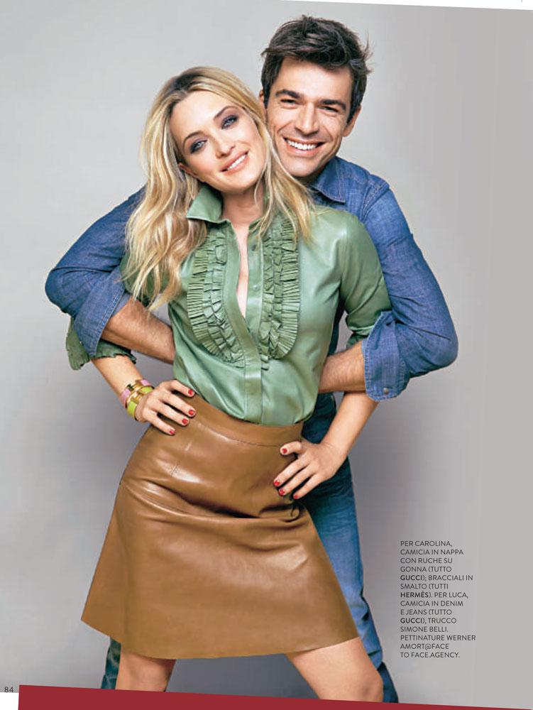 Carolina Crescentini e Luca Argentero stylist Ildo Damiano grazia italia
