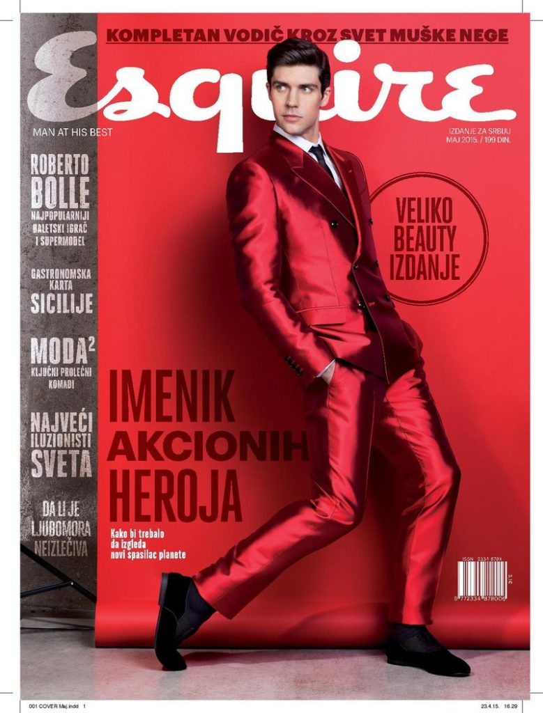 Esquire Serbia Roberto Bolle hair Rory Rice cover man editorial