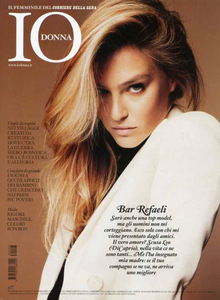 Io Donna Bar Refaeli hair Luca Lazzaro celebrities cover woman