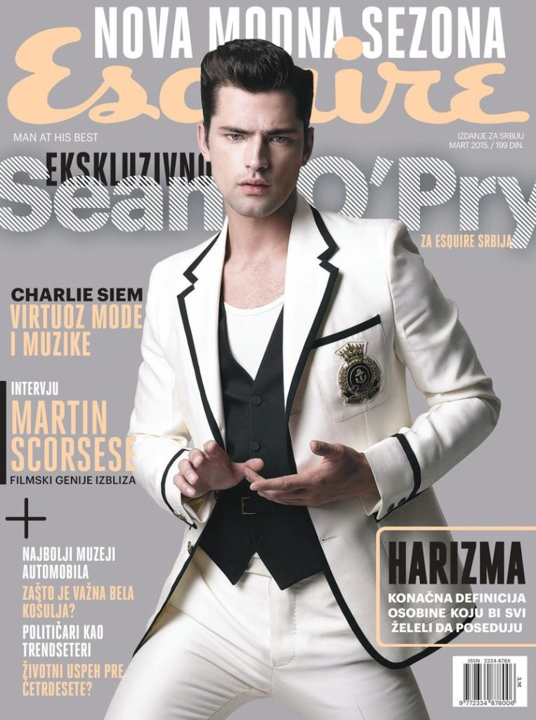 Esquire Serbia hair Rory Rice cover man editorial