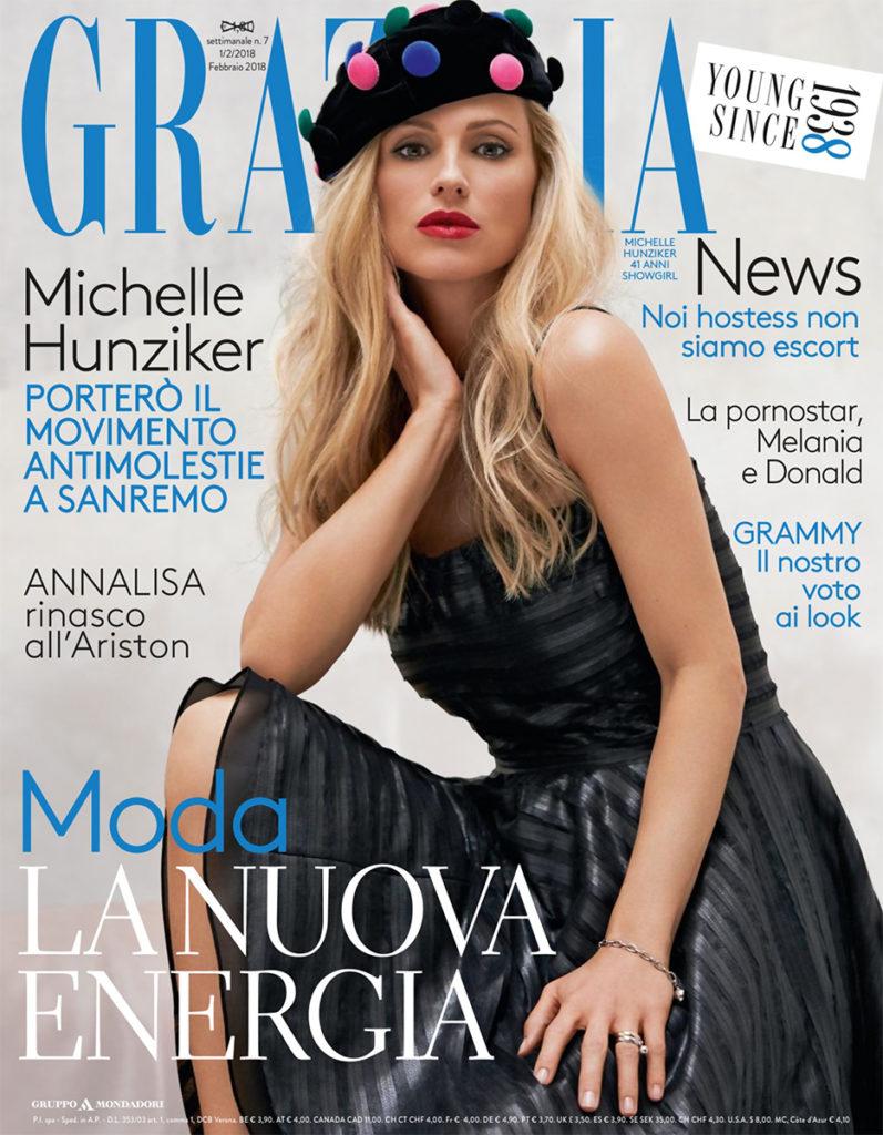 Grazia Italia Stylist Ildo Damiano cover Michelle Hunziker
