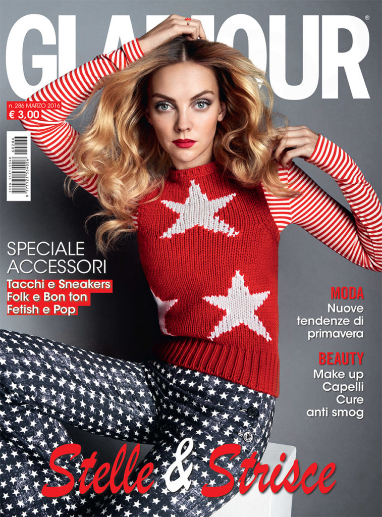 Glamour cover Photo by Baard Lunde manicure Carlotta Saettone