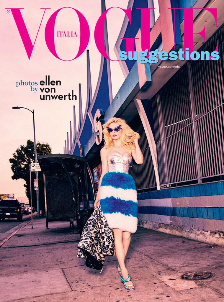 Vogue Italia Photo by Ellen Von Unwerth stylist Giulio Martinelli cover