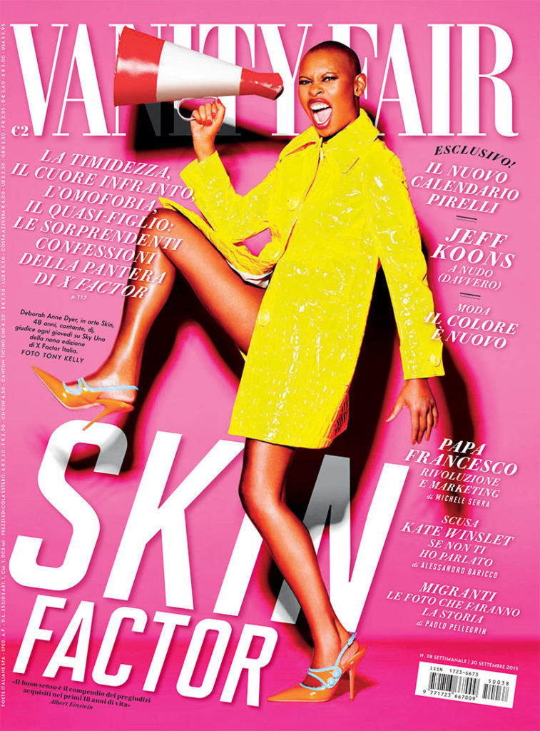 Vanity Fair cover Photo by Kelly Klein Skin manicure Carlotta Saettone