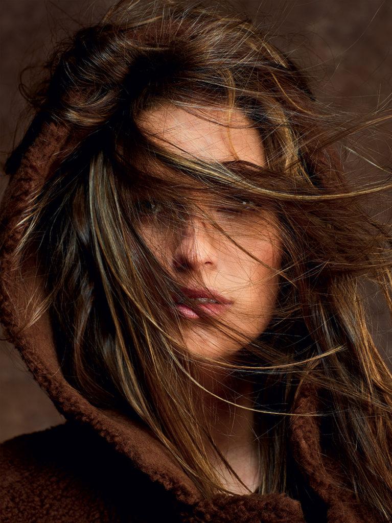 Glamour hair Luca Lazzaro make-up Silvana Belli woman editorial
