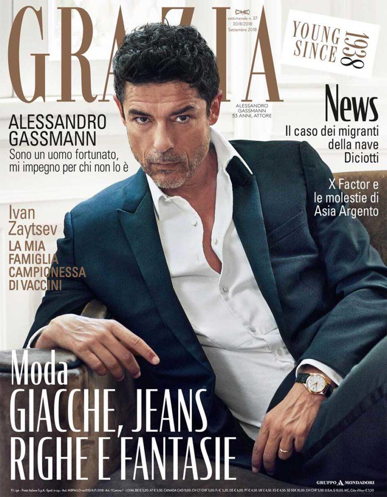 Grazia Italia Stylist Ildo Damiano cover Alessandro Gassmann