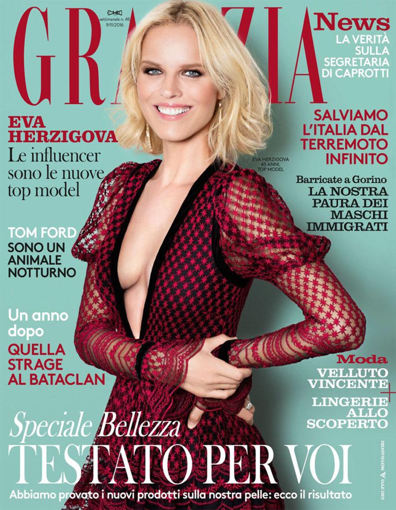 Grazia Italia Stylist Ildo Damiano cover EVA HERZIGOVA
