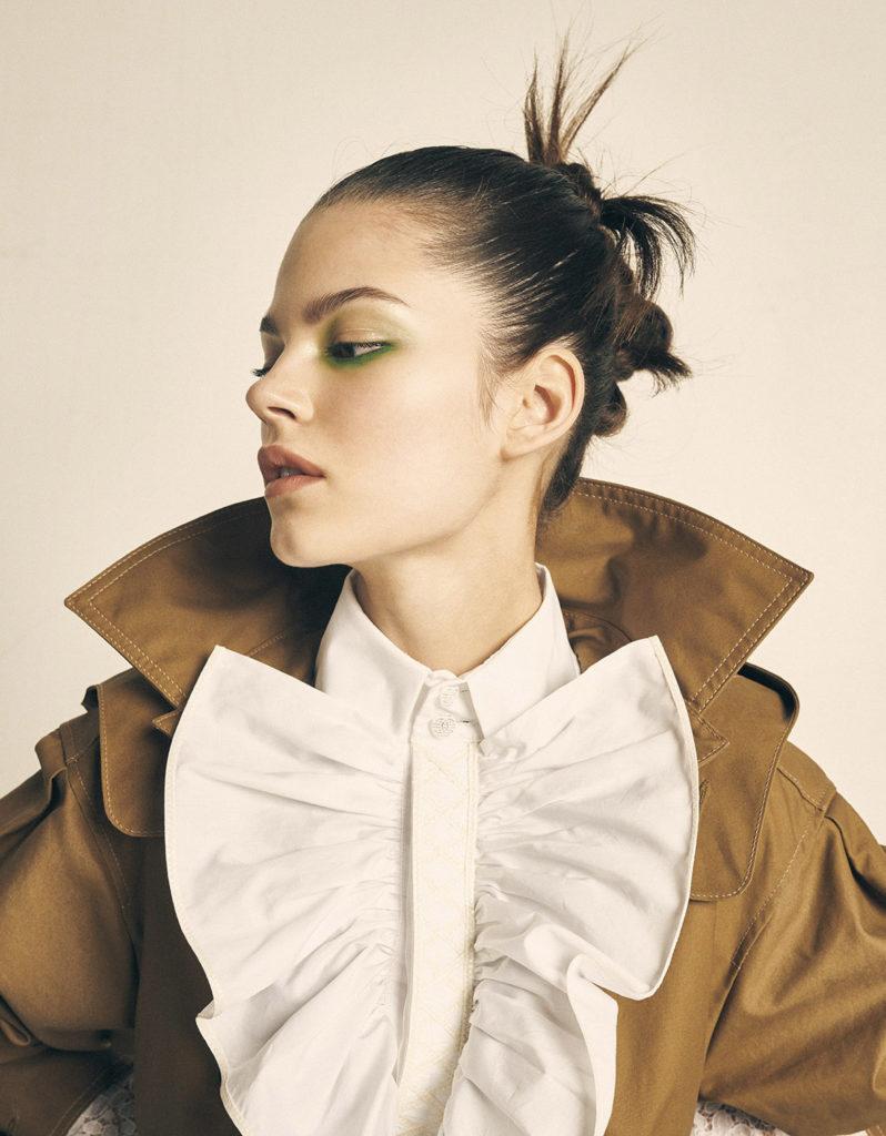 Grazia hair Stefano Gatti make-up Karin Borromeo styling Cleo Casini editorial woman