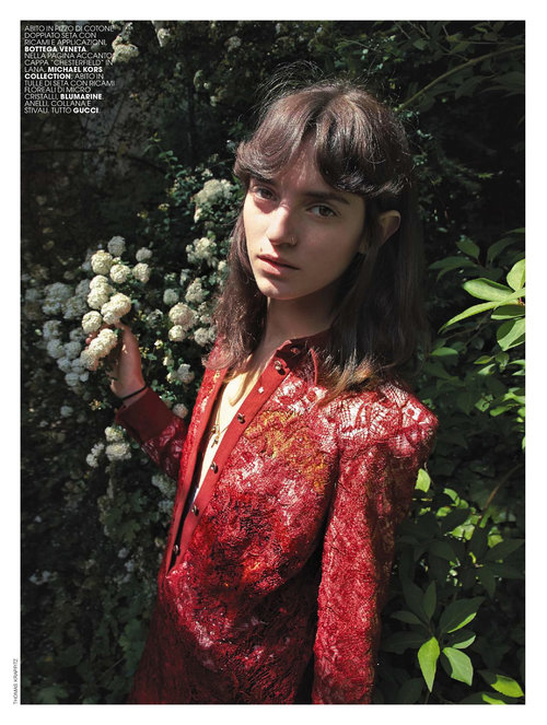 Marie claire italia hair Rory Rice woman editorial