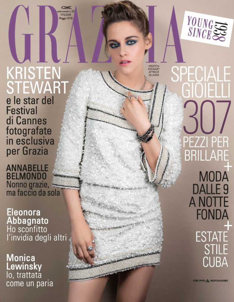 Grazia Italia Stylist Ildo Damiano cover Kristen Stewart in Grazia Magazine Italy May 2018