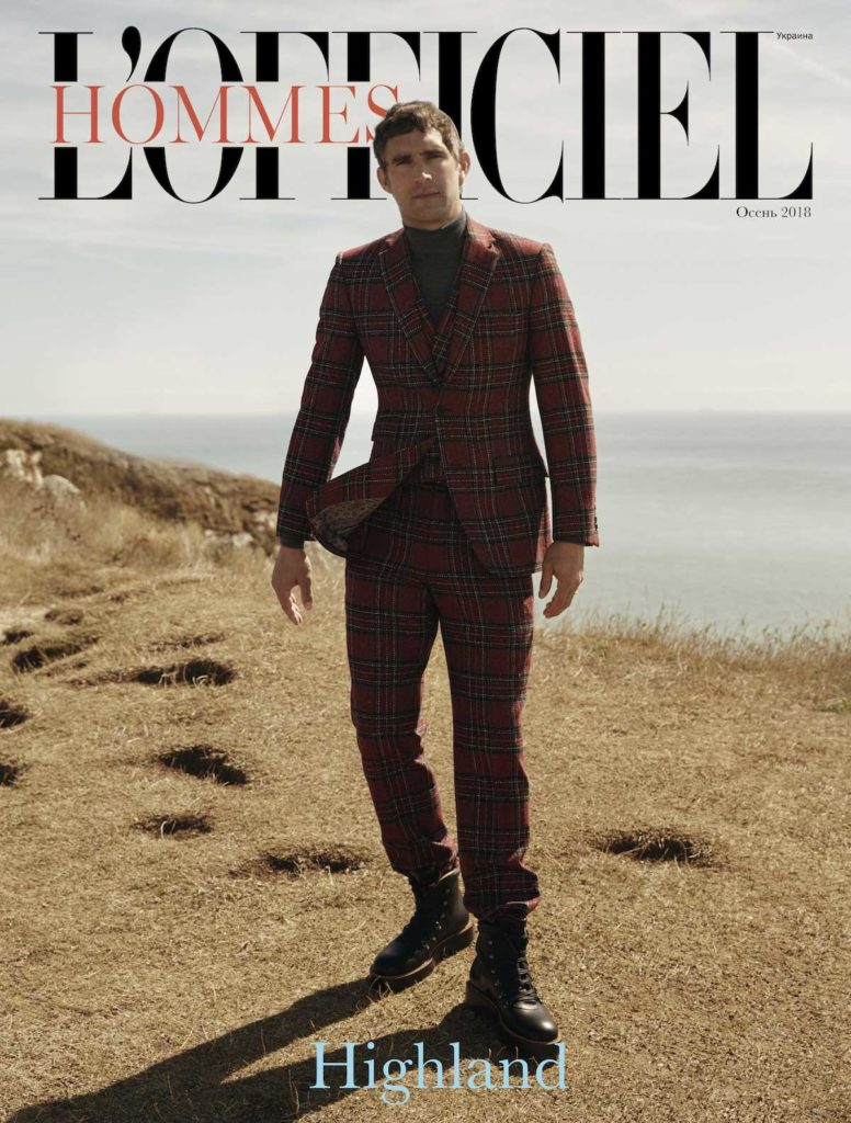 L'officiel hommes ukraine hair Rory Rice cover man editorial