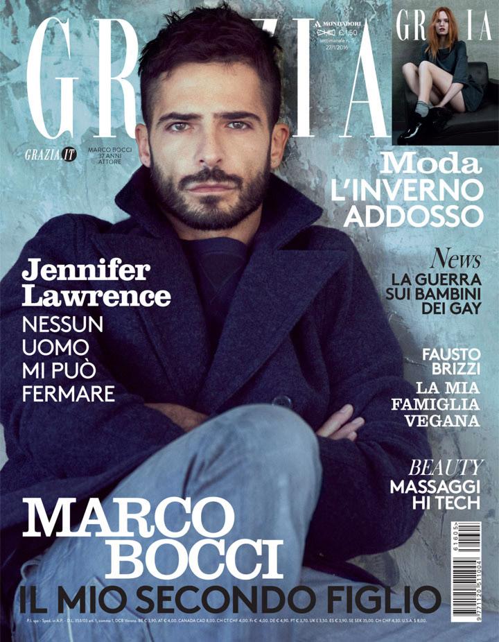 Grazia Italia Stylist Ildo Damiano cover Marco Bocci