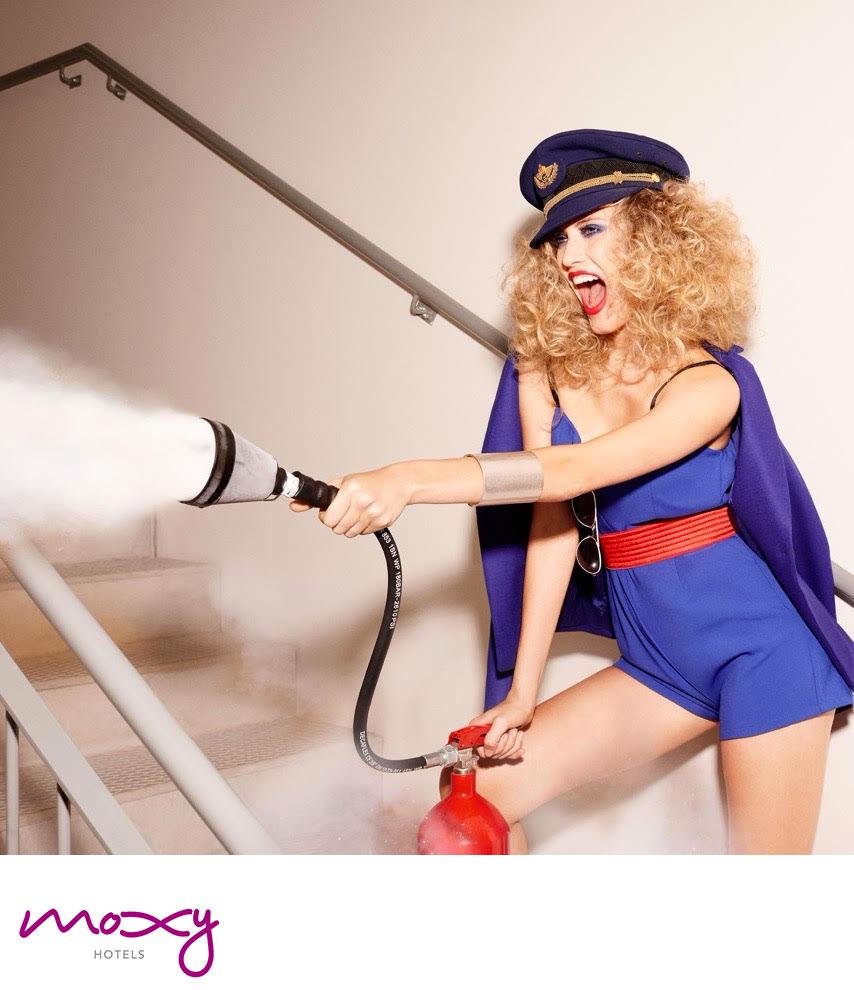 Moxy Hotel hair Luca Lazzaro make-up Silvana Belli video adv