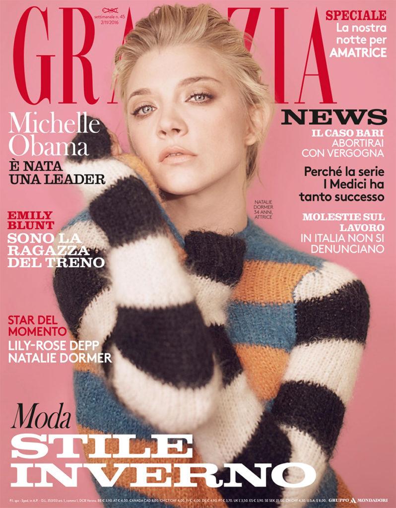 Grazia Italia Stylist Ildo Damiano cover Natalia Dormer
