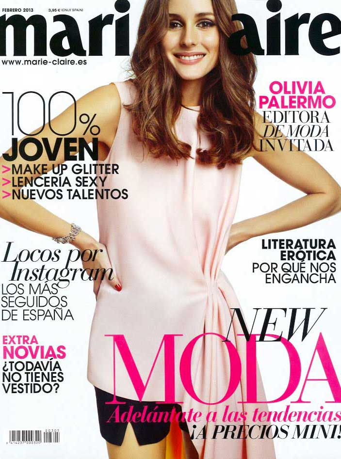 Marie Claire Spain Olivia Palermo Styling Enrique Campos Cover