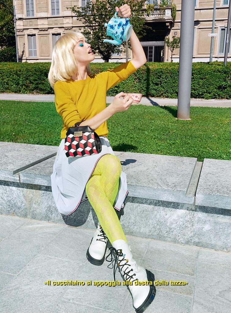 glamour make-up Giovanni Iovine hair Luca Lazzaro woman editorial